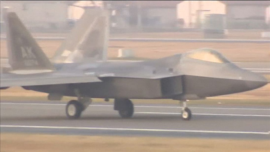 Dozens of stealth jets have arrived in South Korea for joint exercises