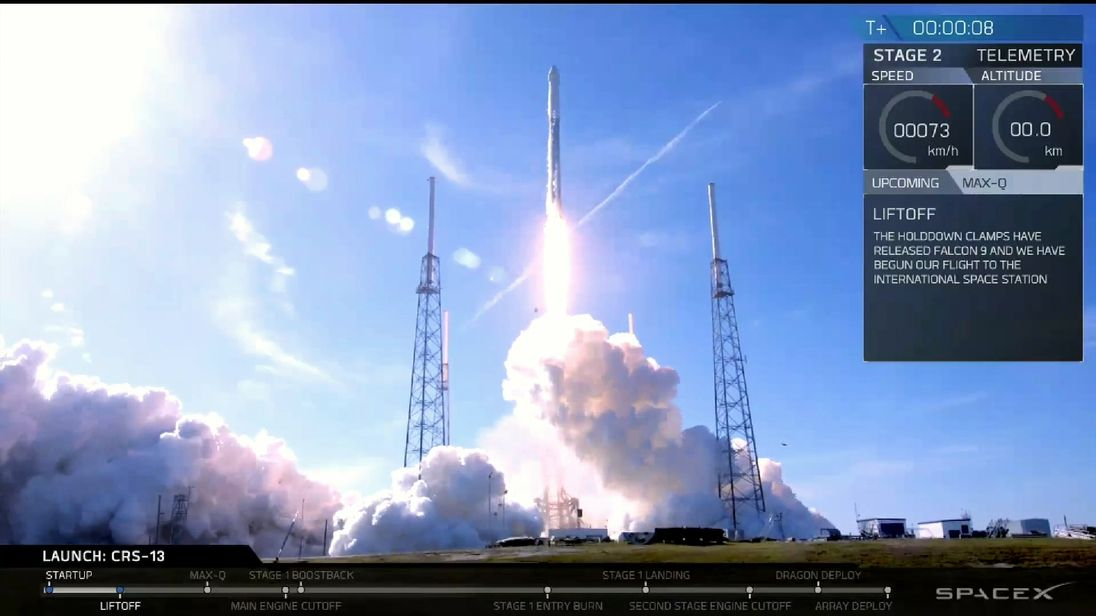 SpaceX celebrates 50th flight of Falcon 9