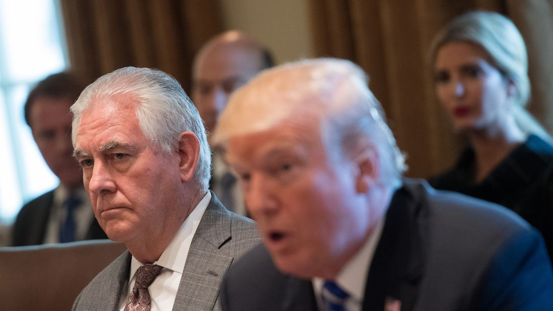 Mr Trump said he would not firing Rex Tillerson