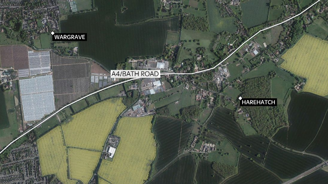 The crash happened on the A4 near Wargrave