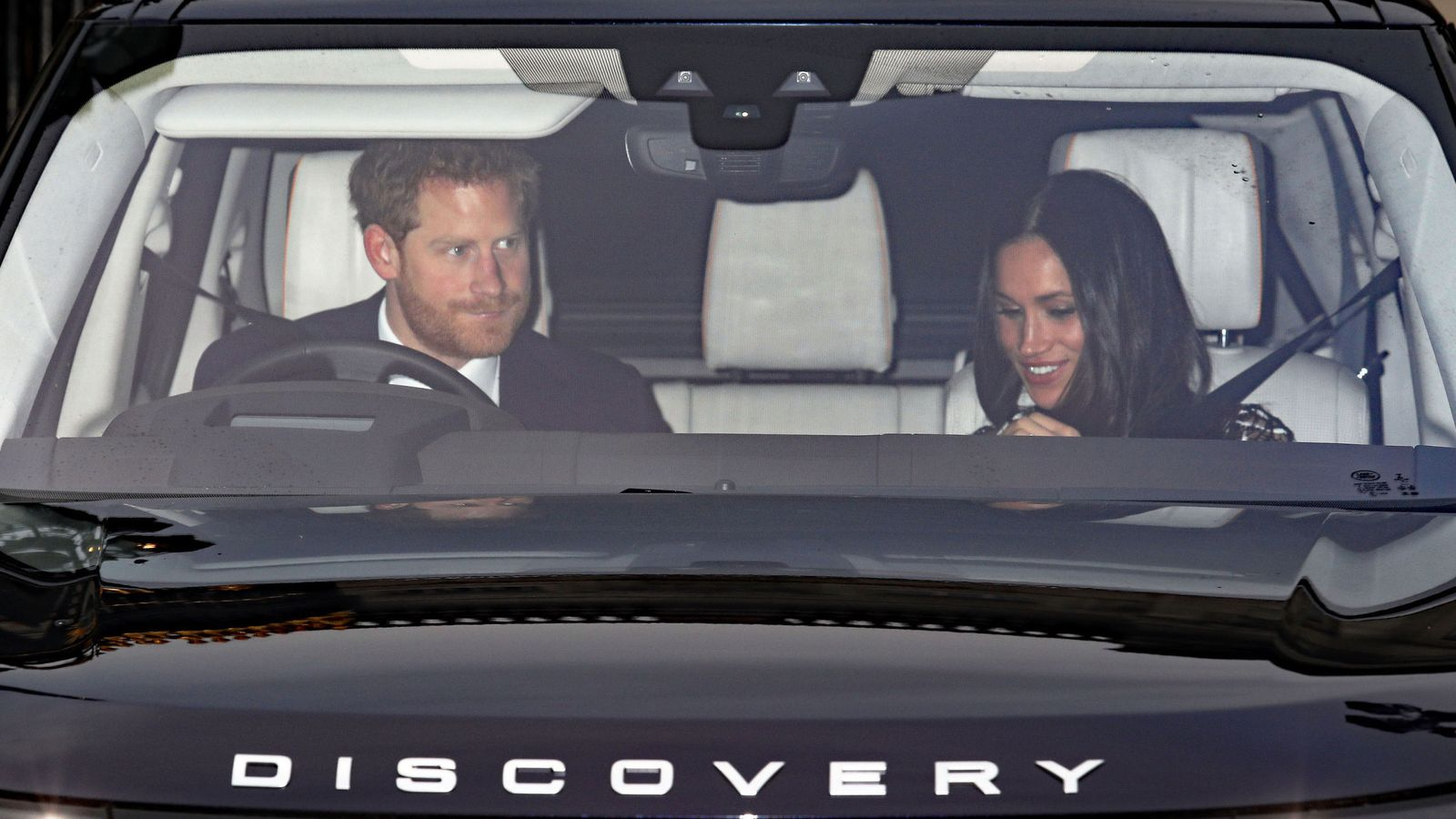 Meghan Markle Joins Prince Harry At Buckingham Palace For