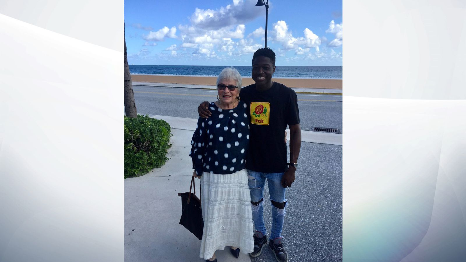 Rapper meets 80yr old 'Words with Friends' player after 300+ games together.
