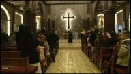 Christian worshippers filled churches across northern Iraq.
