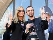 Ringo Star, his wife Barbara Bach celebrate his  71st birthday at the Hard Rock Cafe in Hamburg, Germany