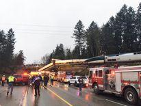 Scene of derailment. Pic: Pierce County Sheriff.