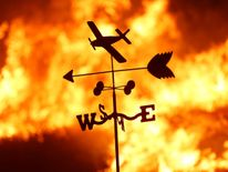 A weather vane is pictured on a ranch during the Creek Fire in the San Fernando Valley