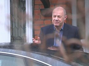 Damian Green as he refused to answer questions