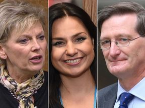 Tory MPs (l-r) Anna Soubry, Heidi Allen and Dominic Grieve