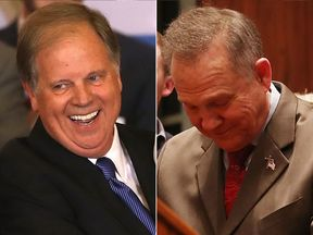 Doug Jones and Roy Moore