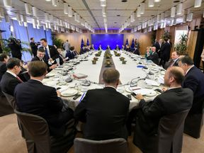 European Union leaders attend a summit in Brussels, Belgium