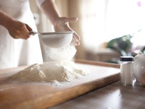 Flour milled in the UK must be fortified with calcium carbonate, iron, thiamine (vitamin B1) and nicotinic acid