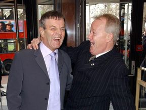 Tony Blackburn (l) and Keith Chegwin were great friends