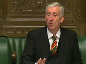 Lindsay Hoyle, the deputy speaker of the House of Commons