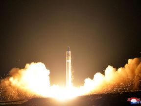 A view of the Hwasong-15's test