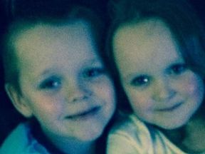 Brandon, 8, and Lacie, 7, were both killed in the fire. Pic. Facebook