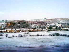 Storm Caroline has brought snow to parts of the UK - and there is more to come. This was the scene on the 7.40am Manchester to Leeds Transpennine Express on Friday. Pic: Asma Younus (@jetsetchick)