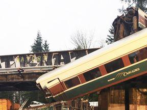 Scene of derailment