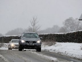 Snowy conditions in Danbury, Essex, as forecasters warned of freezing temperatures.