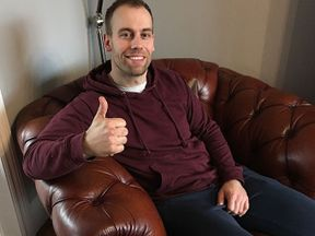 PC Dan Thomas is recovering at home after suffering a wound in his bicep