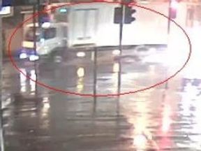 CCTV of lorry