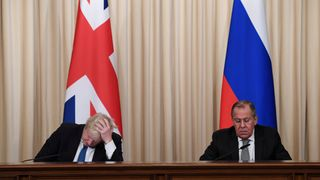 Foreign Secretary Boris Johnson and his Russian counterpart Sergei Lavrov