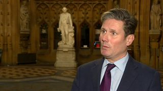Shadow Brexit Secretary Sir Kier Starmer in the Westminster lobby.