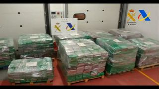 Spanish police have seized on of Europe's biggest-ever hauls of cocaine