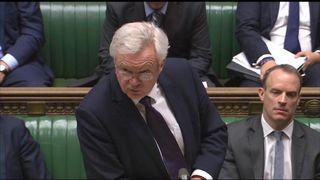 David Davis responded to urgent Brexit questions