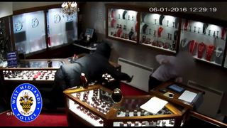 The robbers stole £250,000 worth of jewels. Pic: West Midlands Police