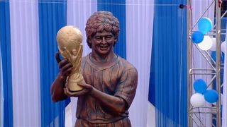 Maradona's statue has been described as looking more like Bobby Ewing from Dallas