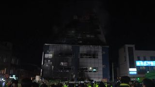 The fire gutted the building