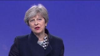 Theresa may called the negotiations 'positive'