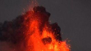 The Reventador volcano in Ecuador is active