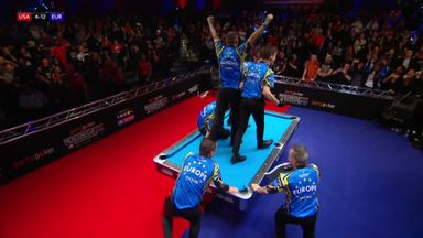 Europe retain the Mosconi Cup