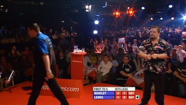 Lewis walks off stage against Manley