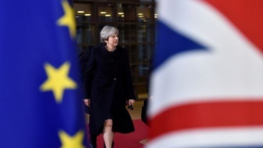 Theresa May was applauded by EU27 leaders at a dinner in Brussels on Thursday