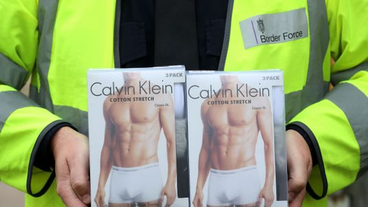 Calvin Klein pants among goods seized by Border Force officers