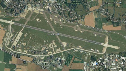 RAF Mildenhall is on lockdown. Pic: Google Earth