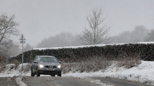 Snowy conditions in Danbury, Essex, as forecasters warned of freezing temperatures