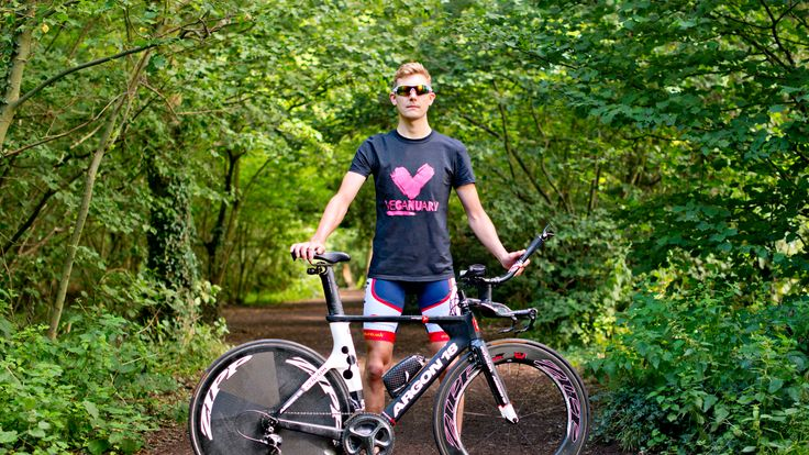 Veganuary ambassador and Team GB triathlete Daniel Geisler - kate@veganuary.com