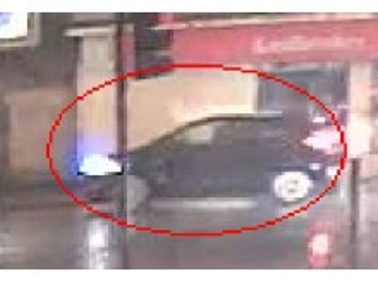 CCTV of black car