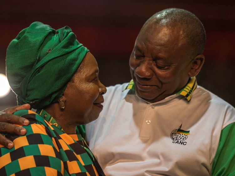 Cyril Ramaphosa narrowly beat Nkosazana Dlamini-Zuma in a delegate vote