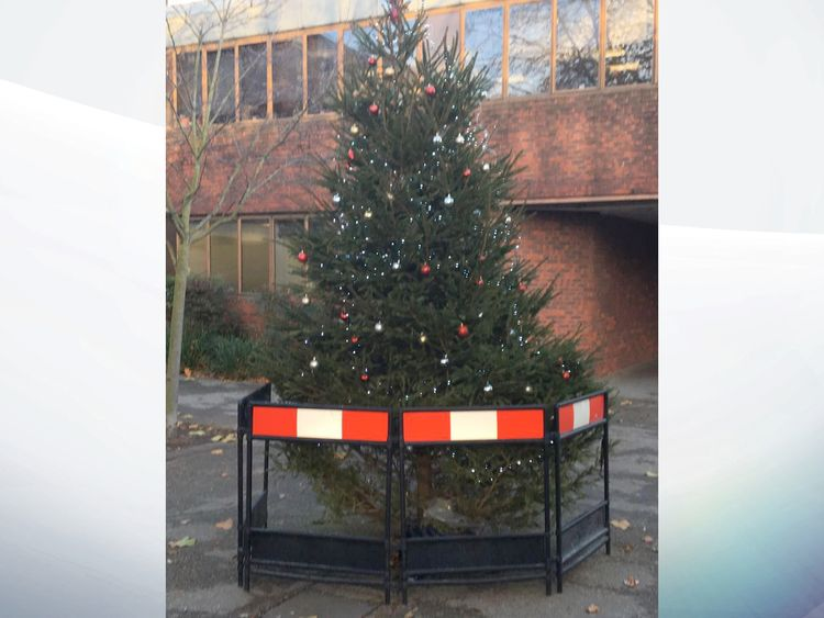 Elf And Safety Derby Council Relents On Xmas Tree Cordon