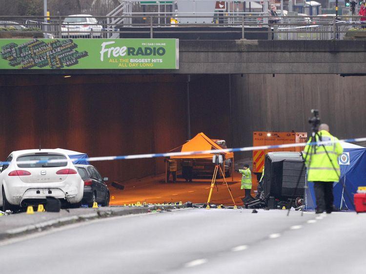 Car crash in Birmingham