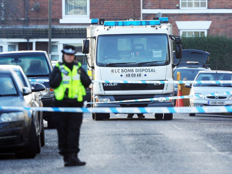 Controlled explosion after Christmas 'terror plot' raids