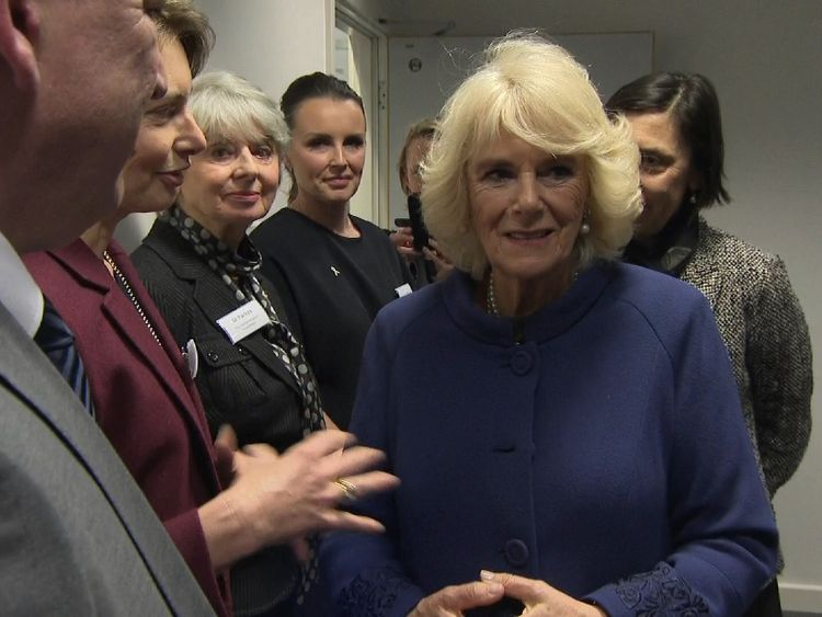 The Duchess of Cornwall visited Royal Stoke University Hospital