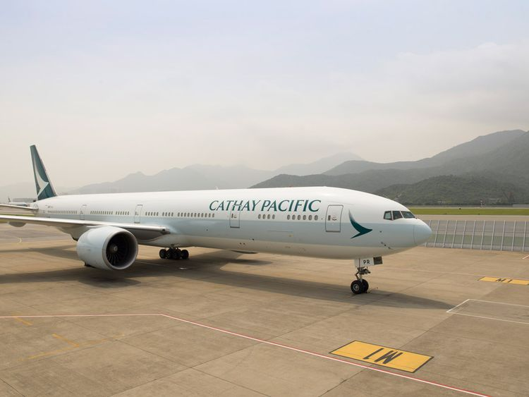 Cathay Pacific flight crew saw the missile re-entering the atmosphere