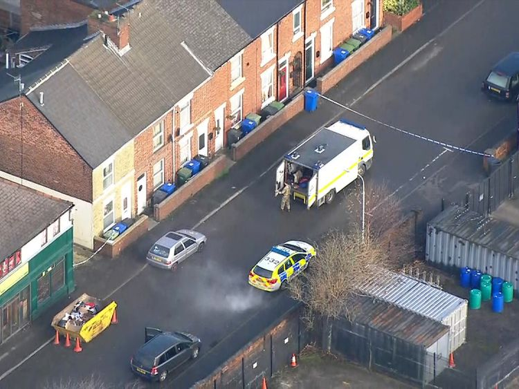 Terror police searching Sheffield community centre