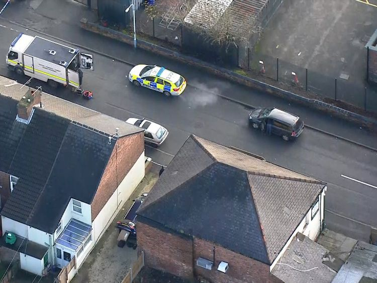Four men were arrested in raids in Chesterfield and Sheffield