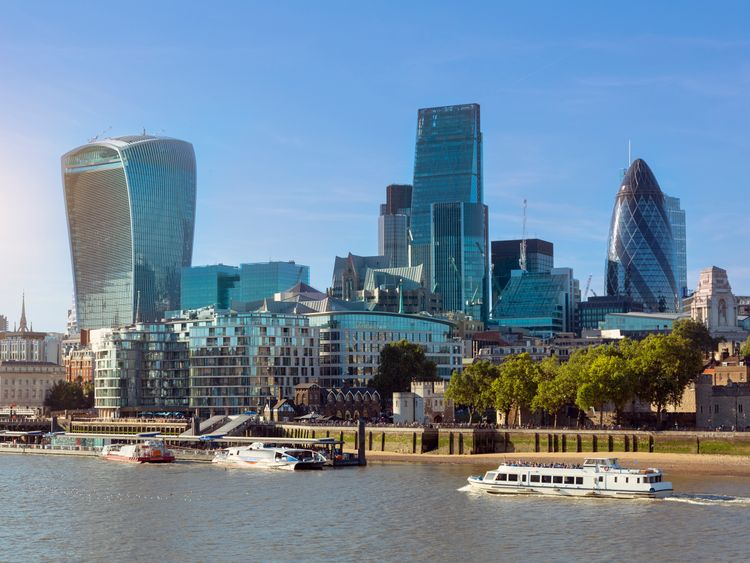 The City of London is home to the UK's financial services sector